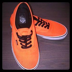 Neon Orange Vans! Size 9